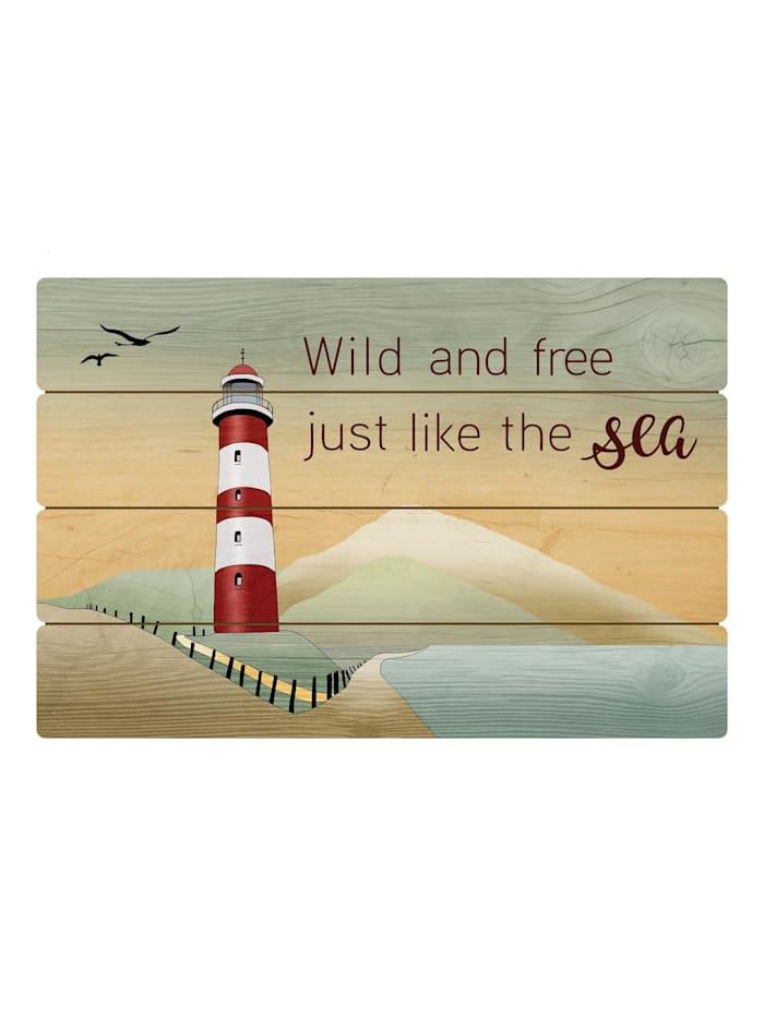 Goebel Goebel Wandbild Lighthouse / Wild and free, Lighthouse / Wild and free