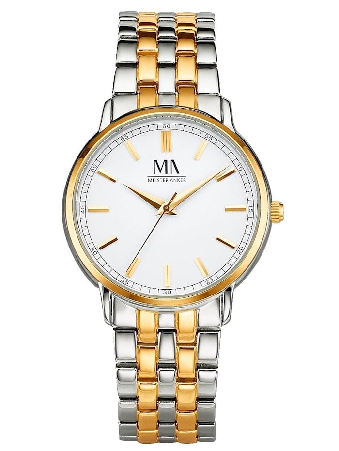 Meister Anker Pánské hodinky, Barva žlutého zlata/Stříbrná