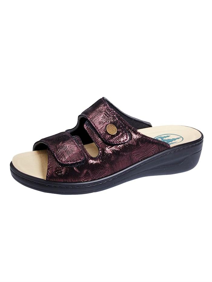 Franken Schuhe Pantolette ideal bei Hallux Valgus, Bordeaux