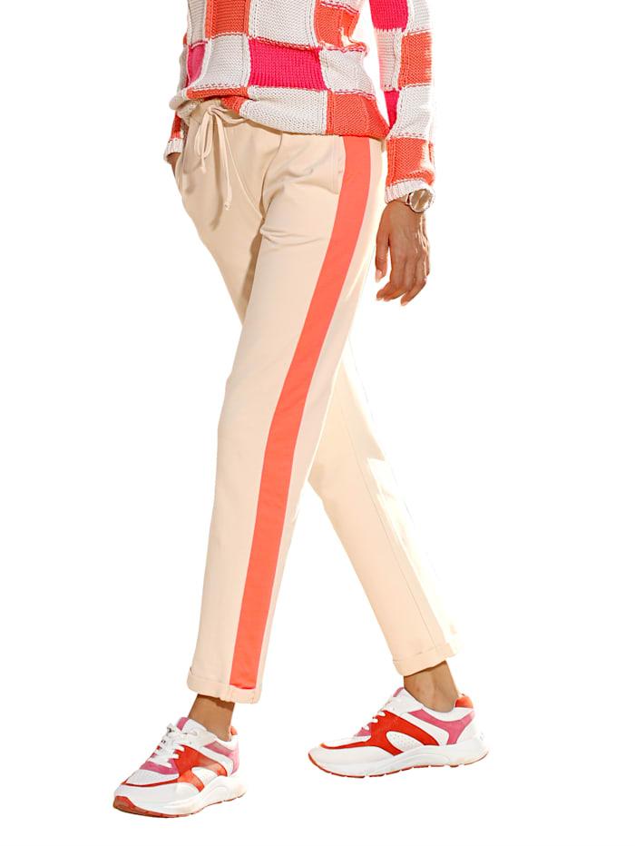 Hose mit kontrastfarbenem Seitenstreifen