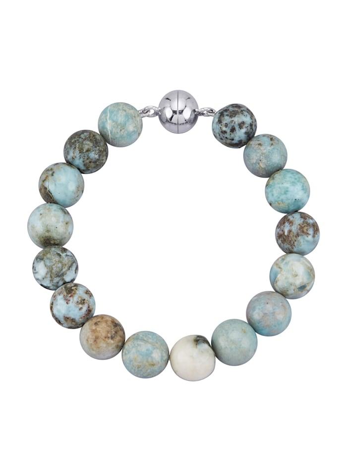 Diemer Farbstein Larimar-Armband mit Larimar, Blau