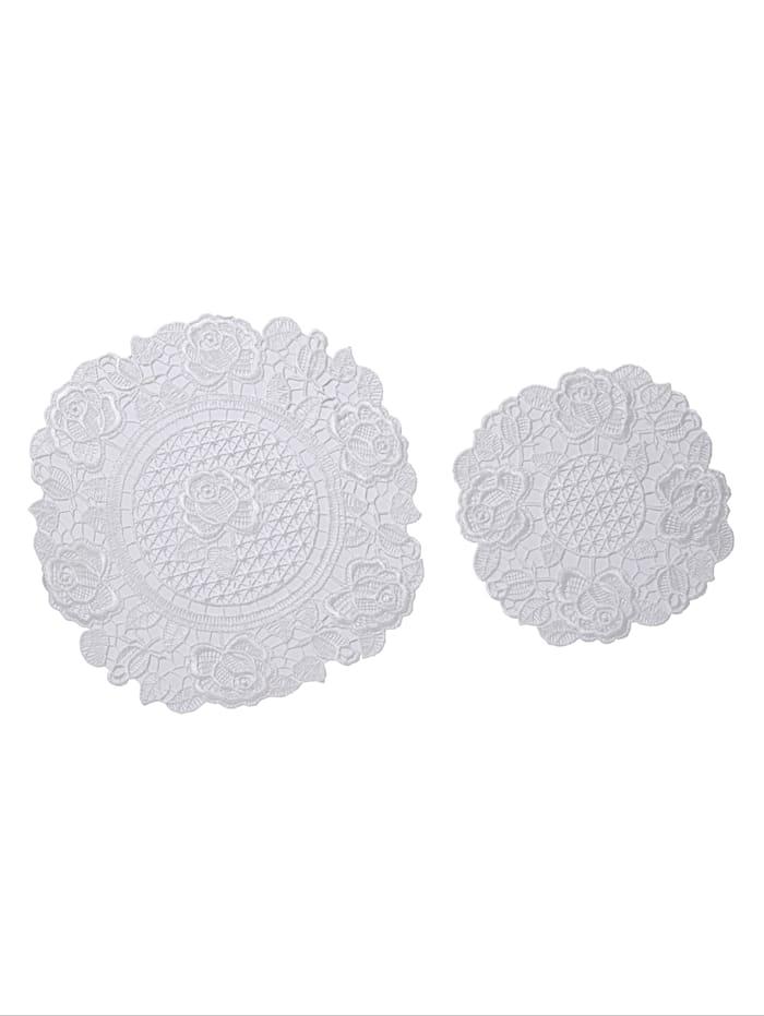 Webschatz Deckchen 'Dilara', Creme-Weiß