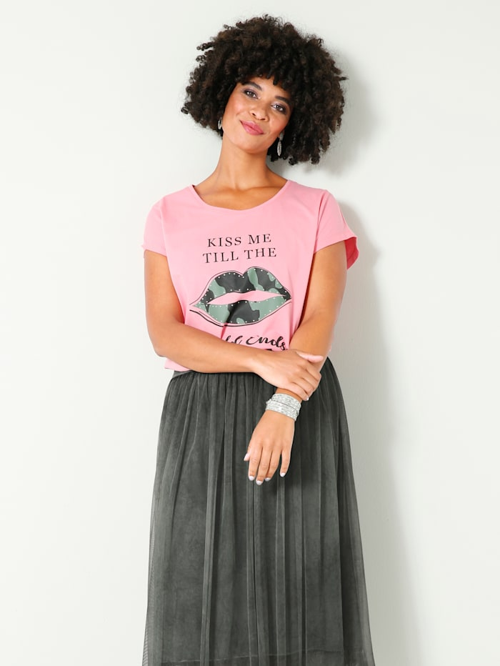 Angel of Style Shirt mit Strasssteinen, Pink