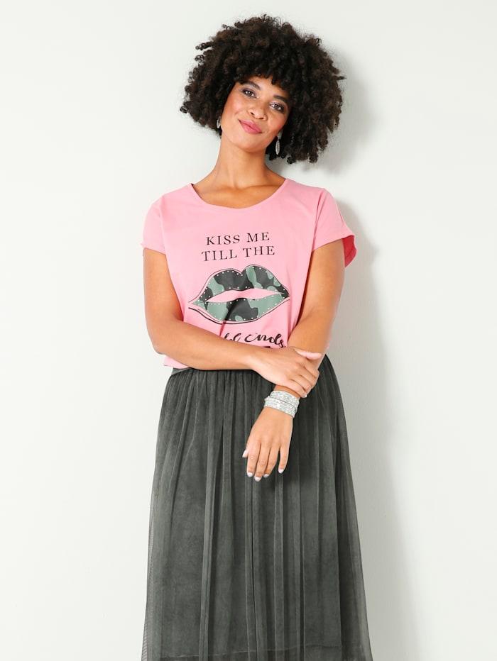 Angel of Style Tričko so štrasovými kamienkami, Pink