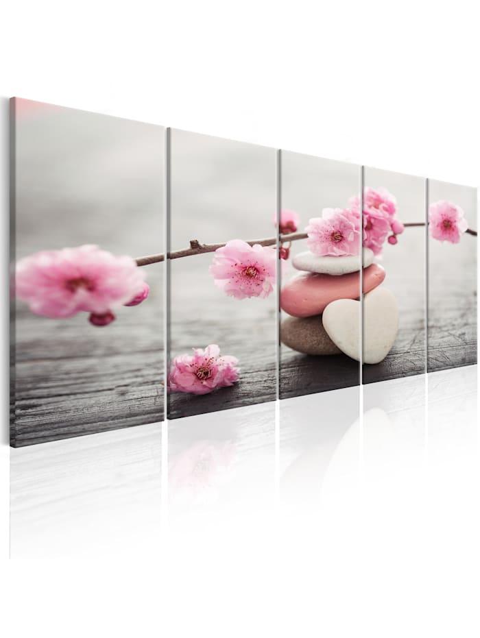 artgeist Wandbild Tricoloured Pebbles I, Braun,rosa,Weiß