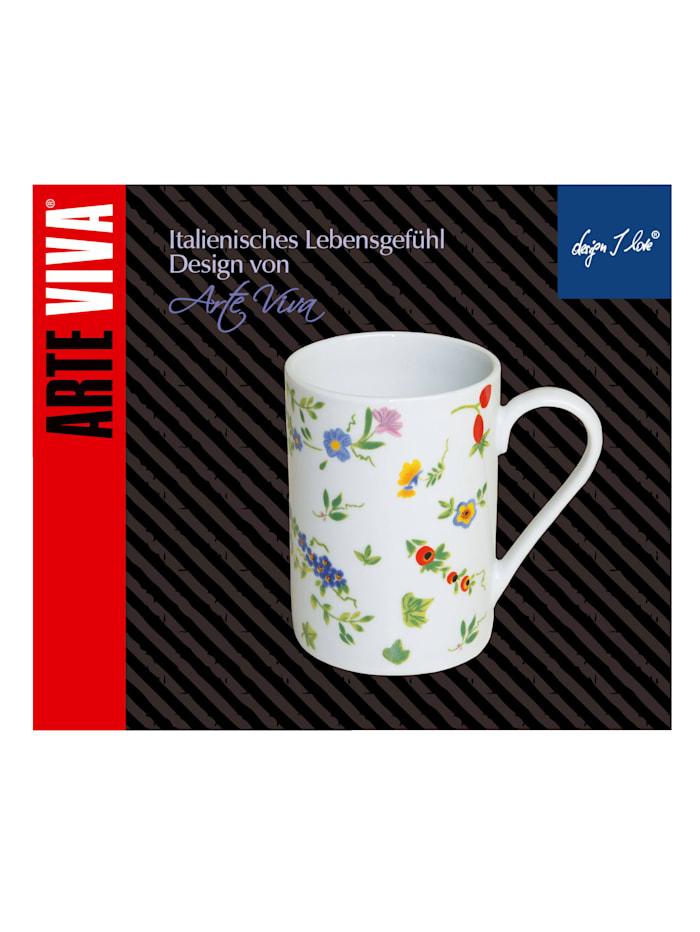 "Lot de 6 tasses à café ""Millefiori"""
