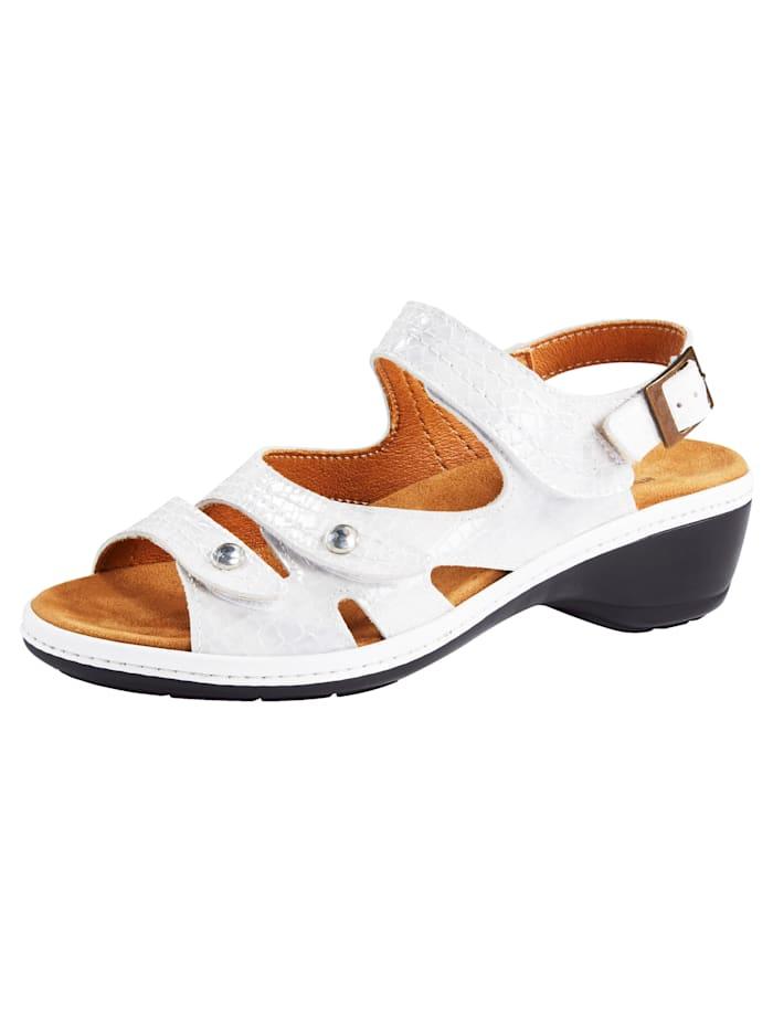 Sandalette in klassischem Krokoleder