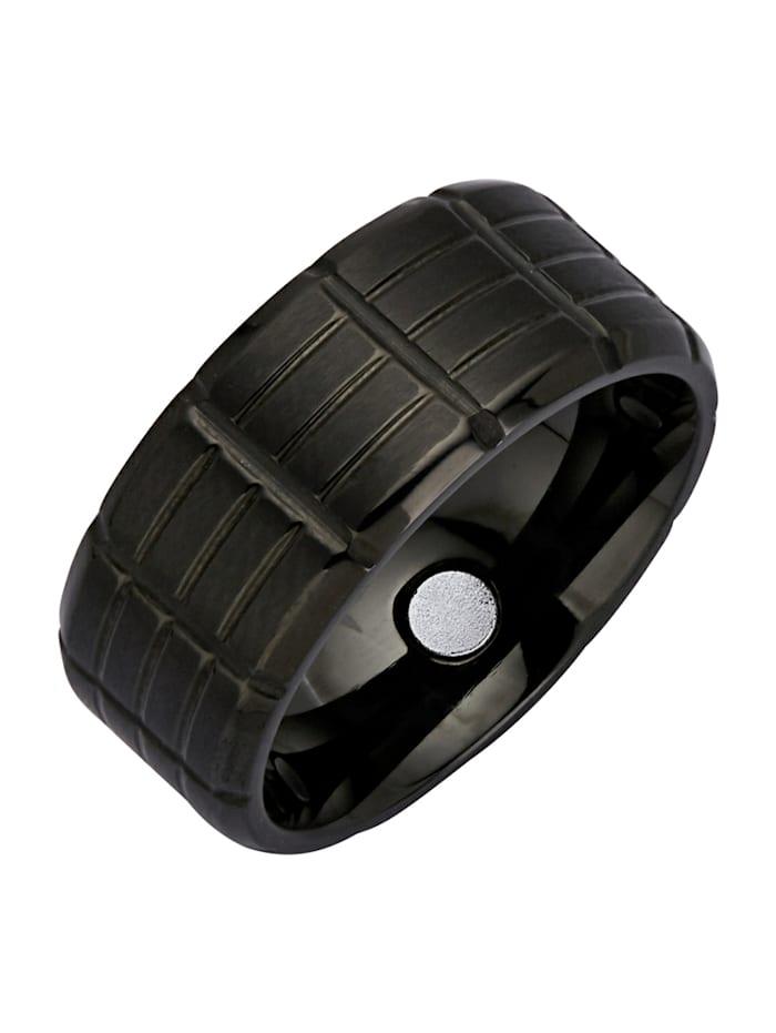 Magnetic Balance Ring van rvs, Zwart
