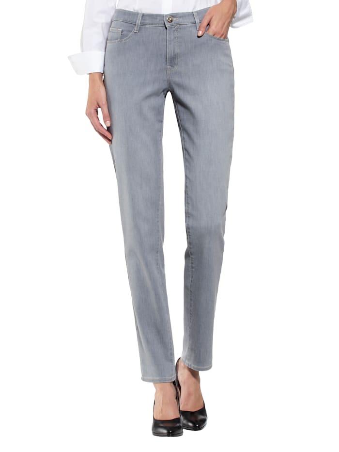 BRAX Jeans mit wertigen Swarovski-Elementen auf der Gesäßtasche, Grau