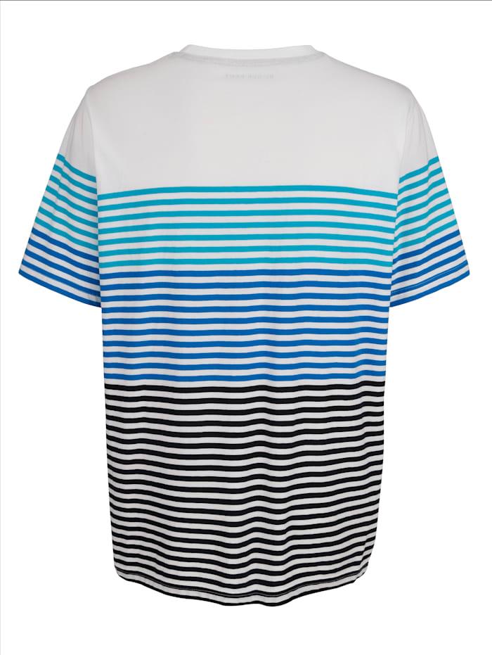 T-shirt à motif rayé tissé-teint