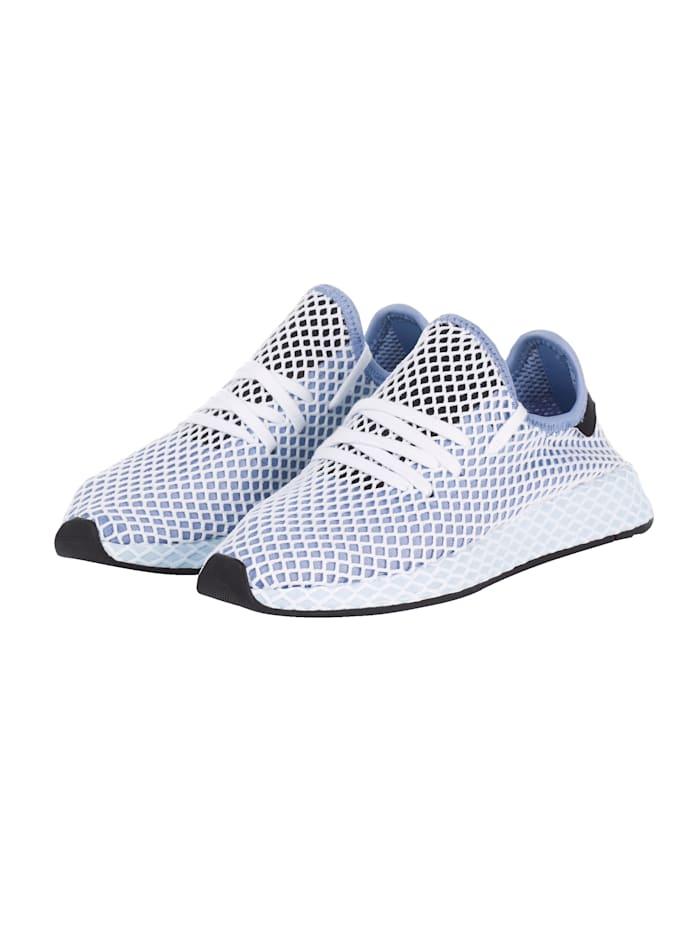 Adidas Originals Sneaker Deerupt Runner W gemusterte Sohle, Blau/Grau