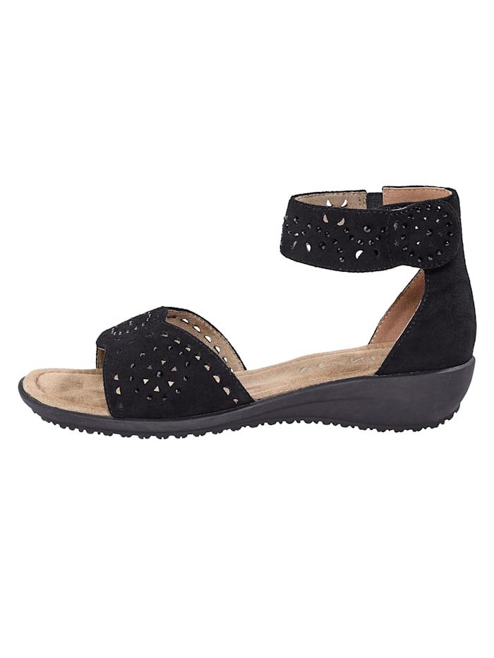 Sandales à pierres fantaisie discrètes