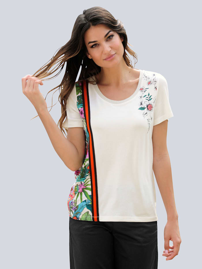 Alba Moda Shirt met sierband, Crème