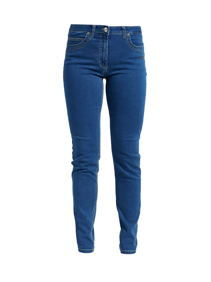 LauRie Hose Charlotte im Regularfit-Schnitt, Medium blue denim