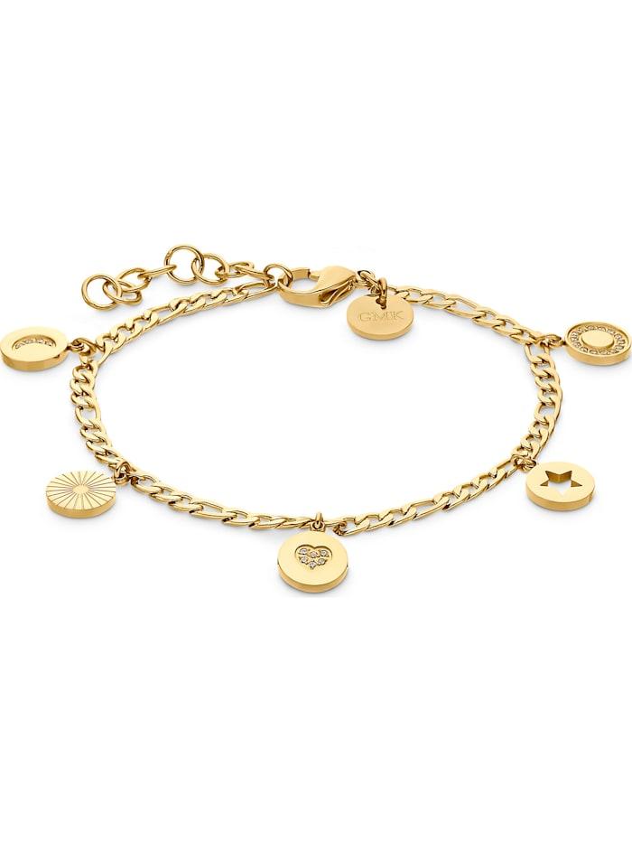 Guido Maria Kretschmer GMK Damen-Armband Edelstahl 24 Zirkonia, gelbgold