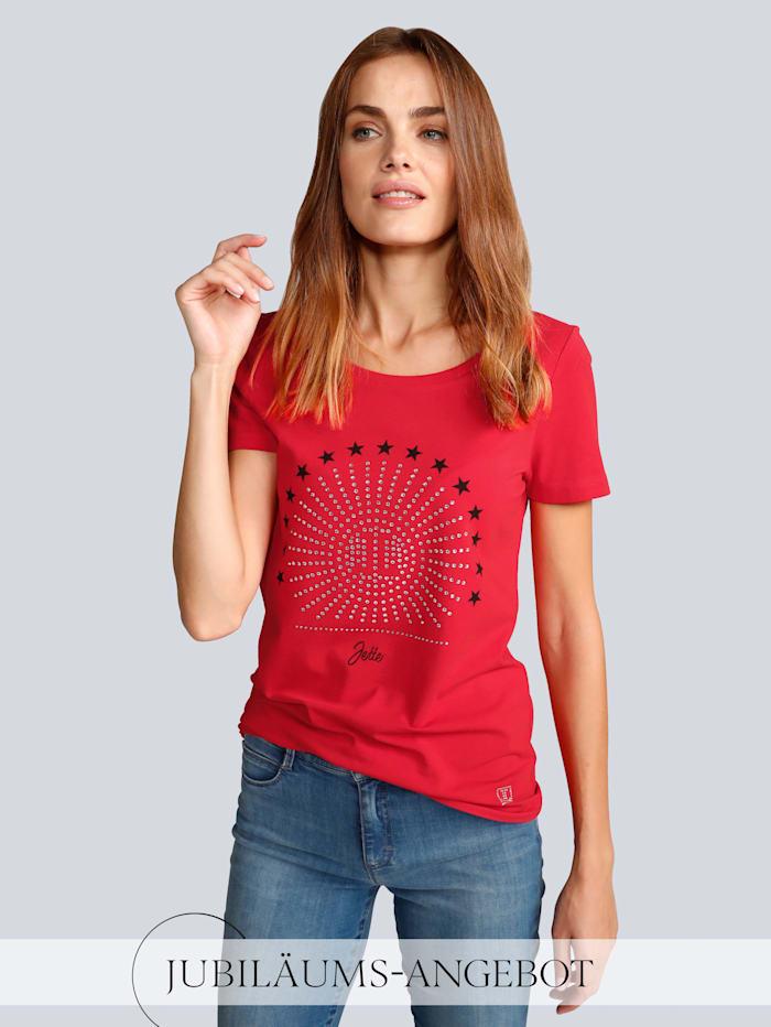 JETTE JOOP T-Shirt mit Sternchen, Rot