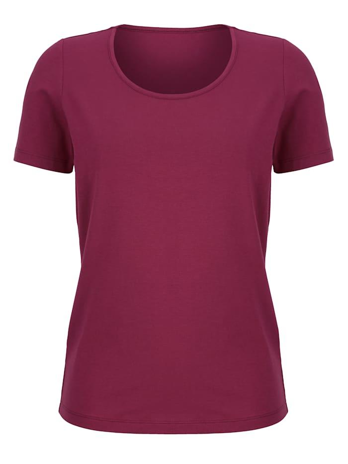Dress In Shirt met hoog katoengehalte, Fuchsia