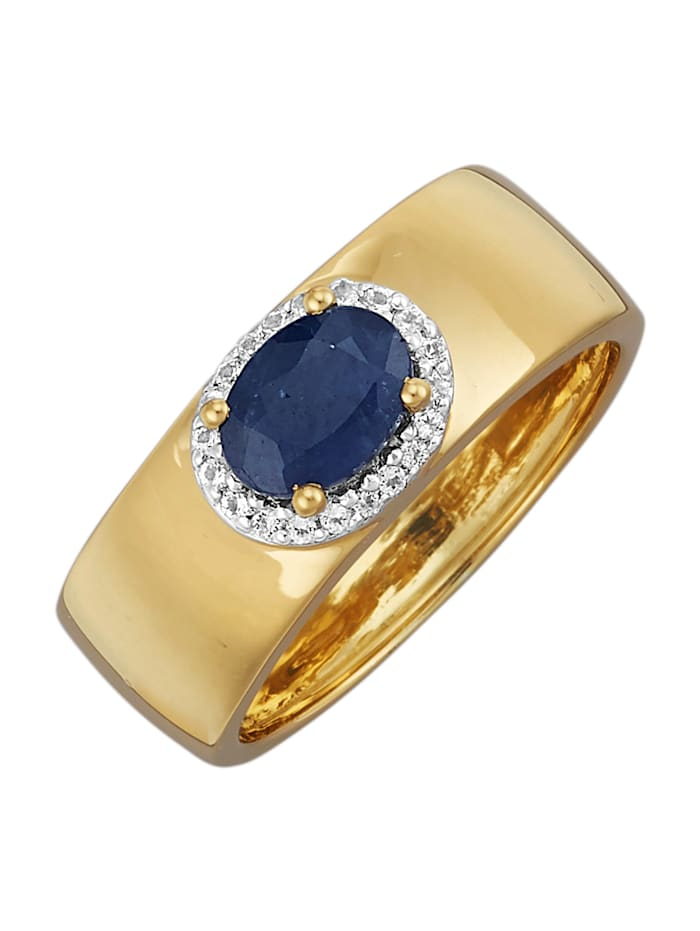Damenring mit Saphir, Blau