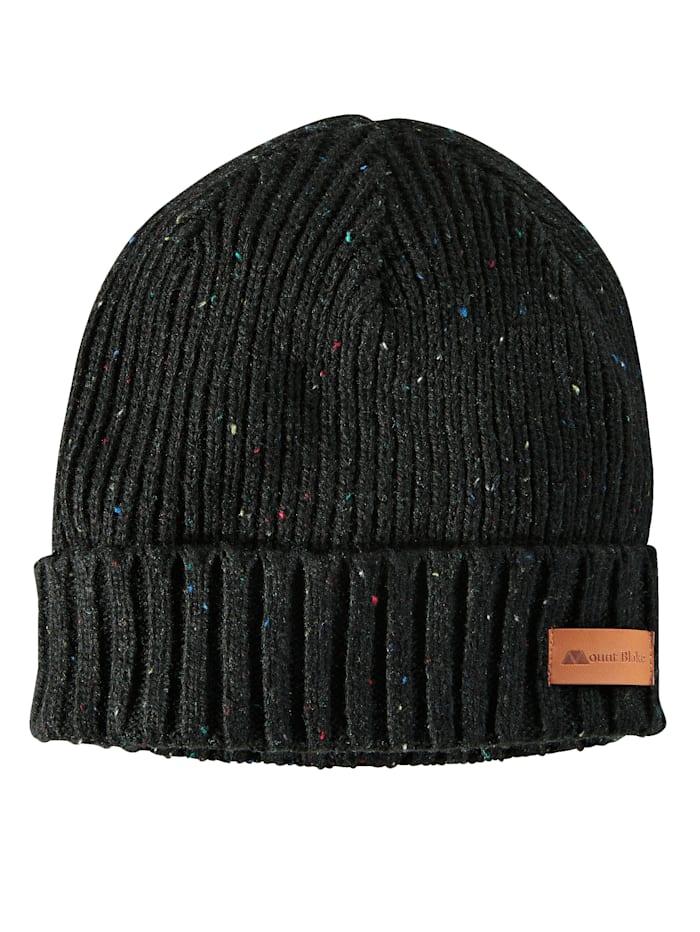 BABISTA Pletená čepice z výjimečné efektní příze, Černá