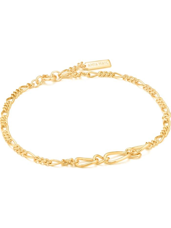 Ania Haie Ania Haie Damen-Armband Figaro Chain 925er Silber, gold