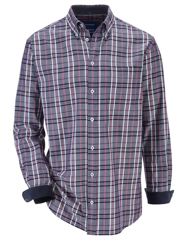 BABISTA Hemd mit Feincord-Besatz, Marineblau/Rosé