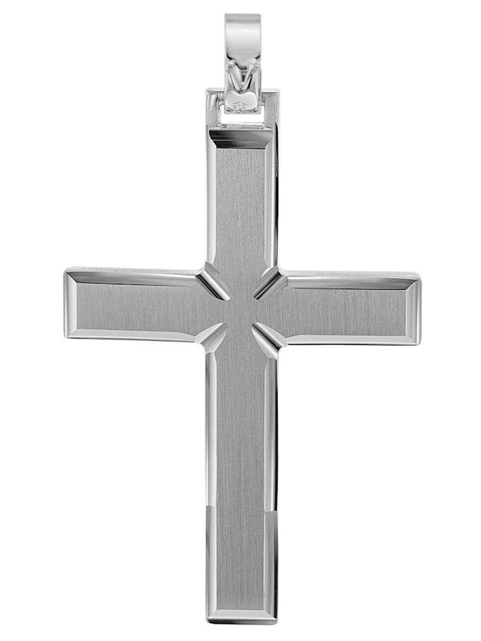 Kreuz-Anhänger für Männer 925 Silber 42 mm