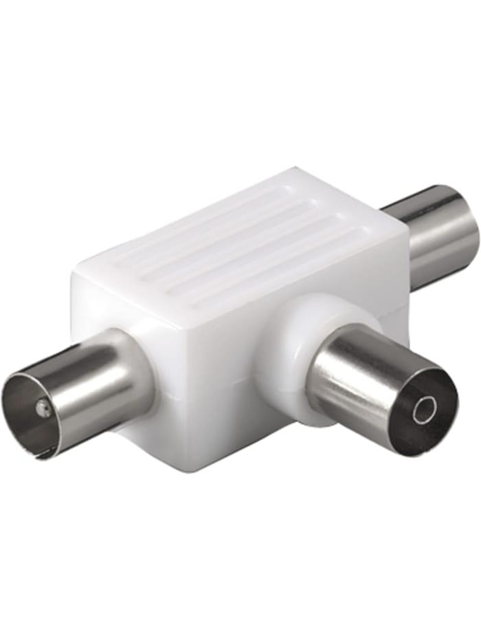 Kabel Koaxial-Verteiler 2x Stecker auf Kupplung