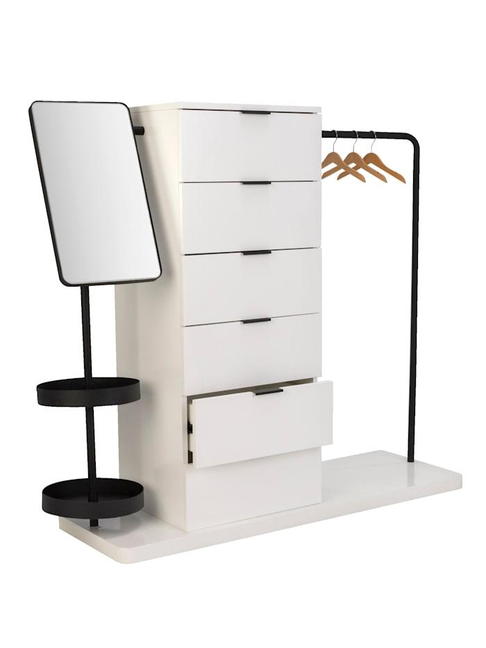 E & R Kommode mit Garderobe, Weiß