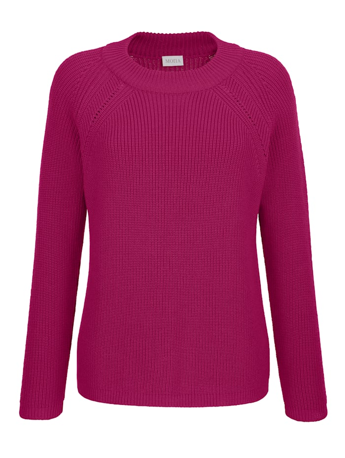Jumper with ribbed detailing