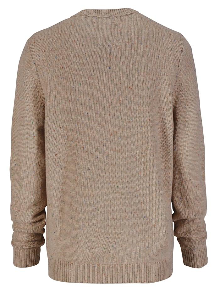 Pullover mit Effektgarn gestrickt
