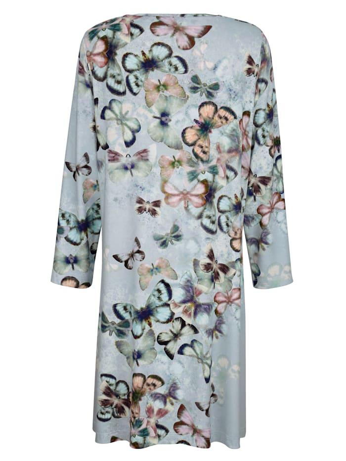 Nachthemd mit dekorativen Lurex Bändern