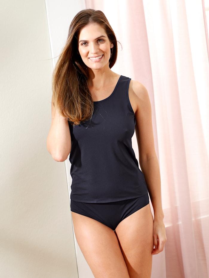 Simone Achselhemd aus angenehm weicher Modal-Qualität, Marineblau