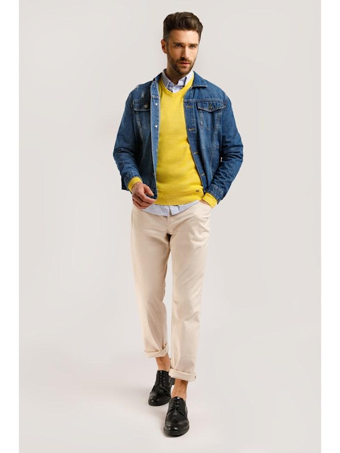 Jeansjacke mit modischen Destroyed-Effekten
