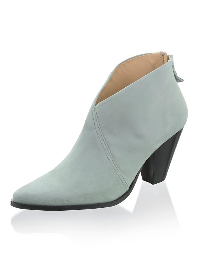 Alba Moda Stiefelette in abgewandelter Cowboyform, Mintgrün