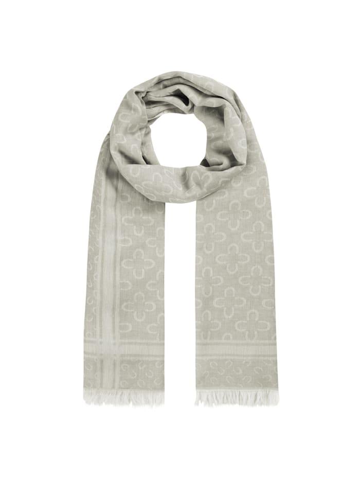 Codello Logo-Schal aus edler Baumwolle, olive
