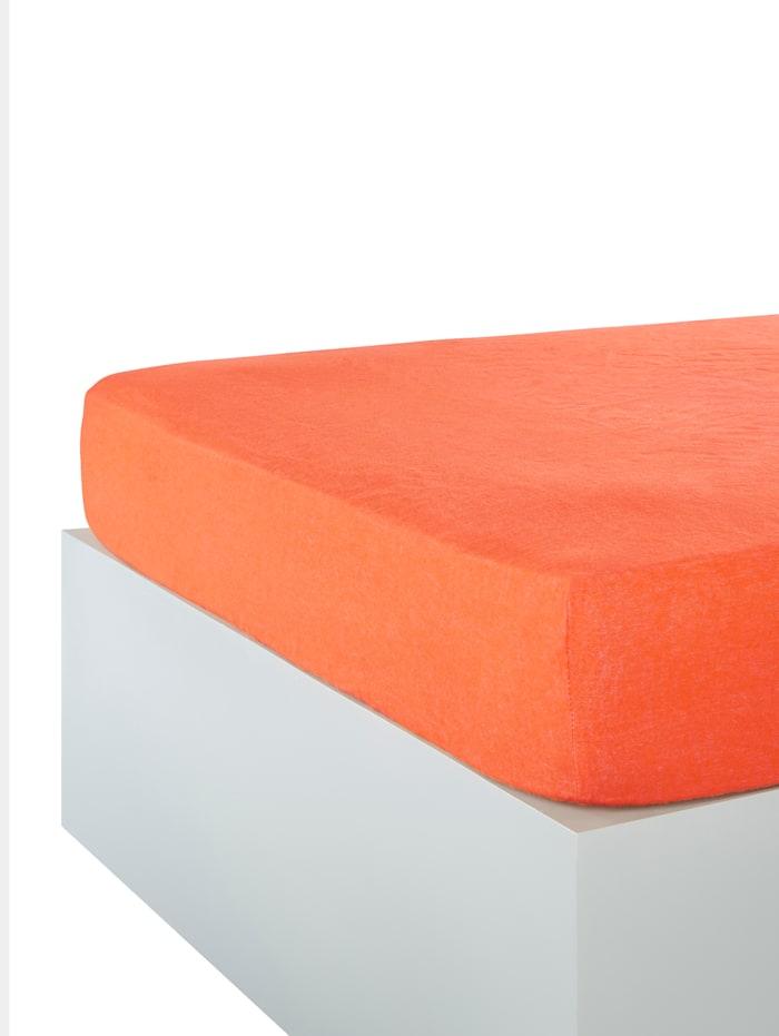 Webschatz Biber Betttuch/Spannbettlaken 2er-Set, apricot