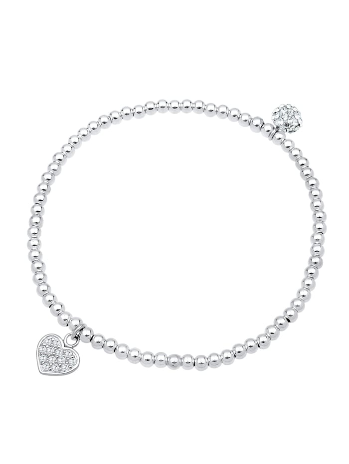Armband Herz Symbol Kristalle 925 Silber
