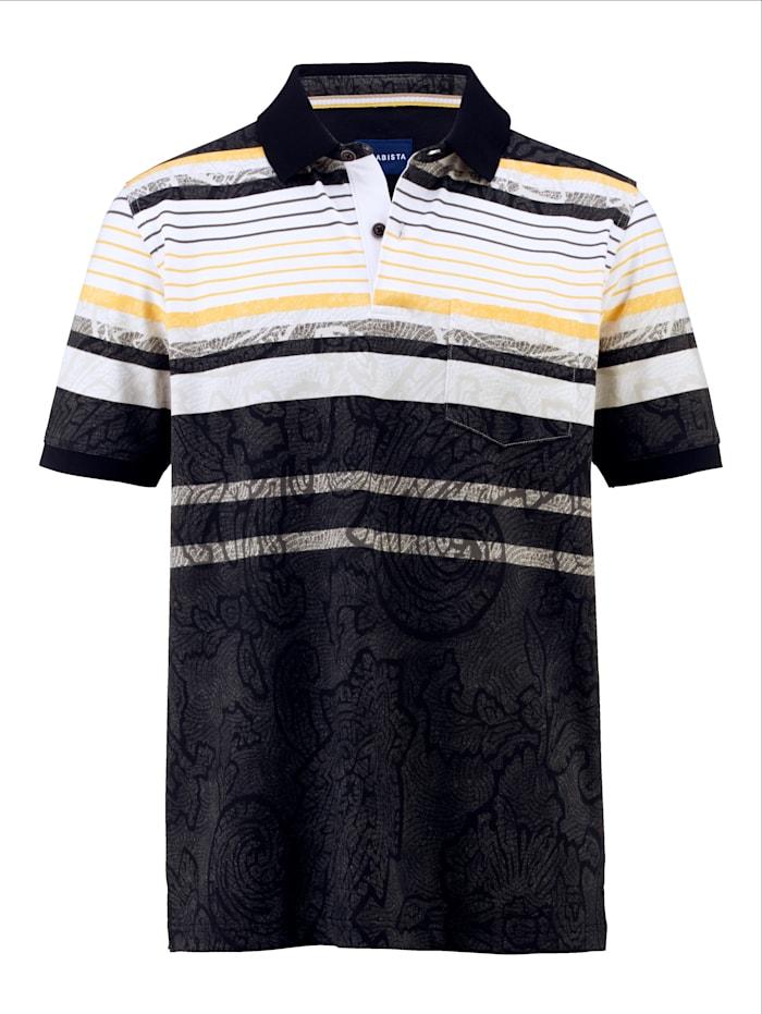 BABISTA Poloshirt met optimaal comfort, Zwart/Grijs/Wit