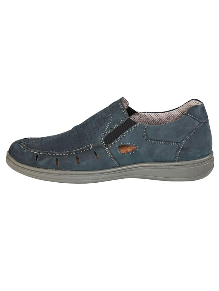 Slipper obuv s letnou perforáciou na priehlavku
