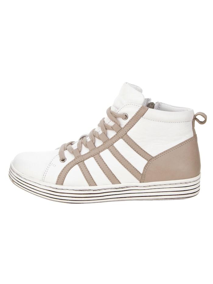 High-Sneaker mit Streifendesign