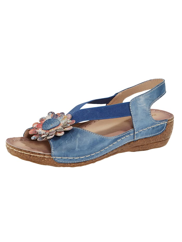 Sandals with floral embellishment