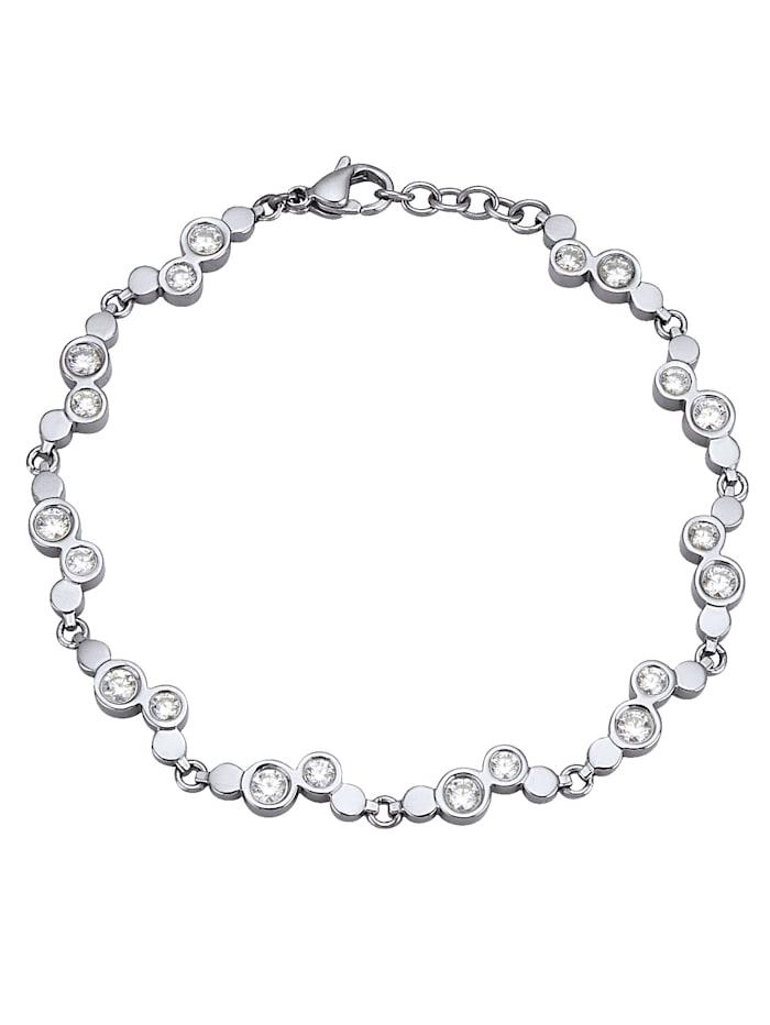 Bracelet à zirconia, Gris