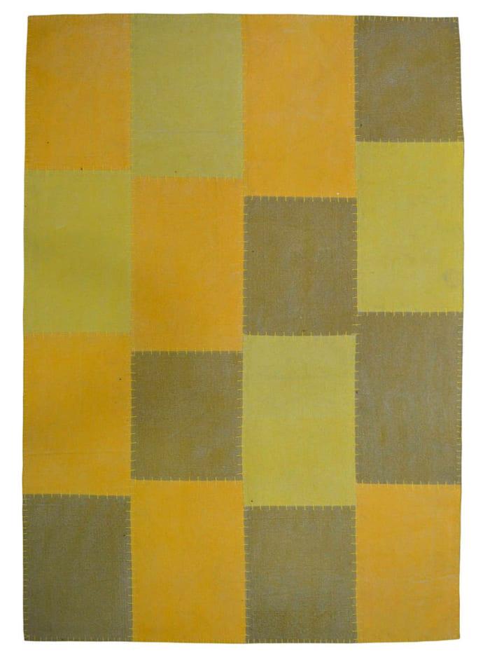 Kayoom Handwebteppich 'Denis', Gelb