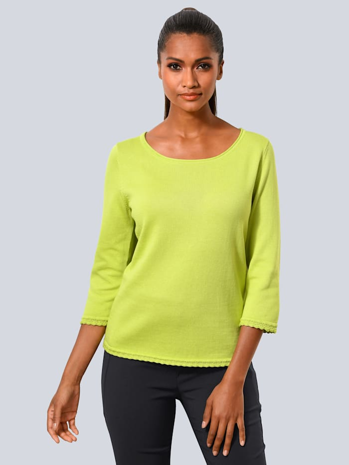 Pullover mit Ajour-Saumkanten
