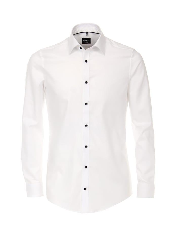 Venti Hemd uni Body Fit, Weiß