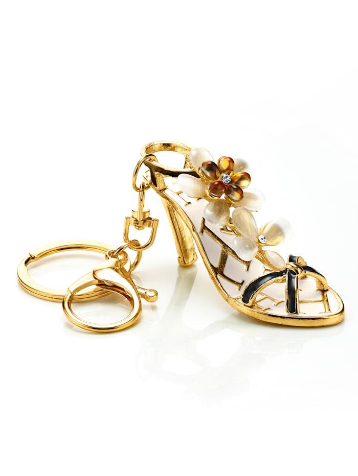 Sleutelhanger High heel, Goudkleur