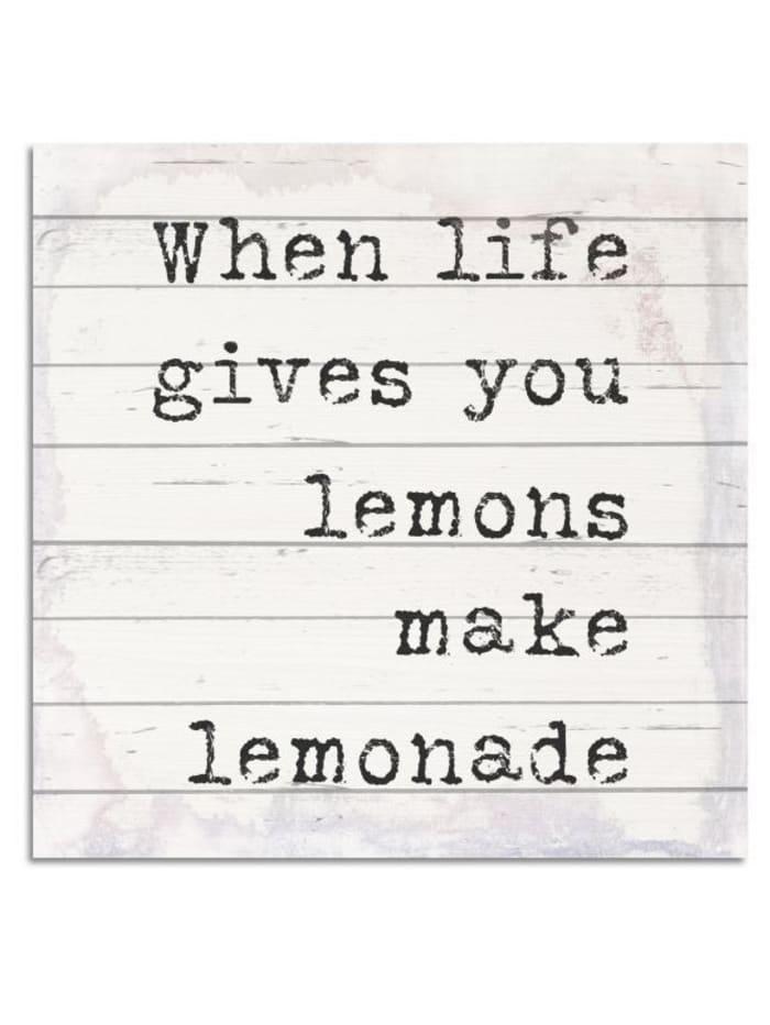 IMPRESSIONEN living Holzbild, Lemons, Weiß