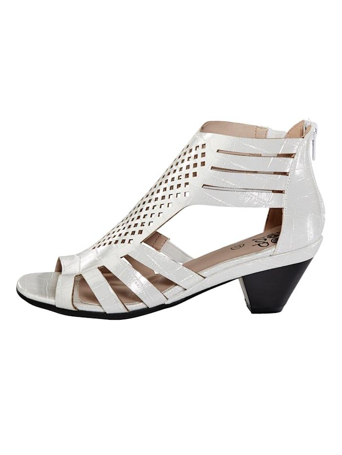 Sandales d'aspect croco fantaisie