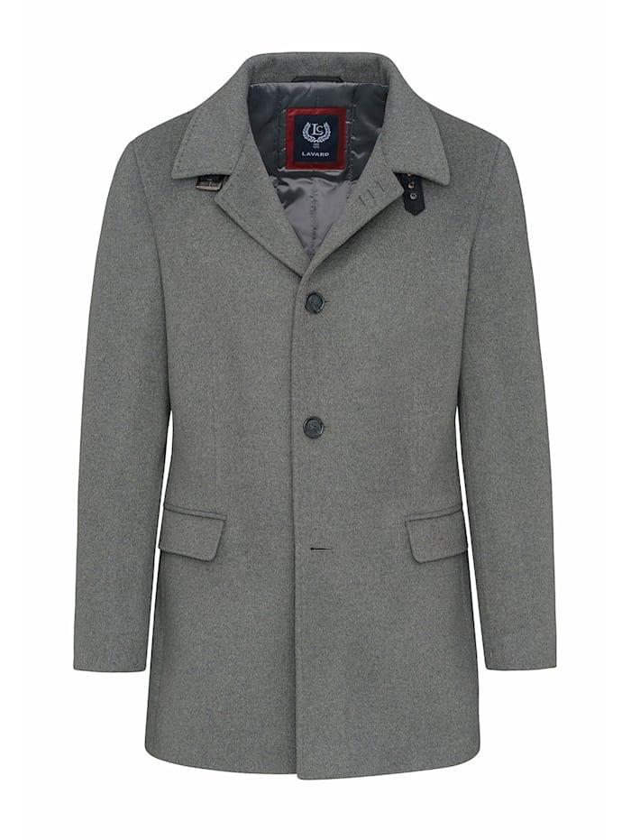 LAVARD Mantel mit figurbetontem Schnitt, grau