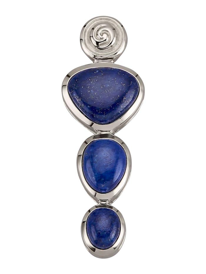 Amara Pierres colorées Pendentif en argent 925, Bleu